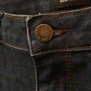 Just Black Jeans - Just Black Dark Denim 29 released hem
